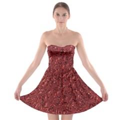 Sparkling Metal Art B Strapless Bra Top Dress