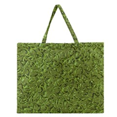 Sparkling Metal Art C Zipper Large Tote Bag
