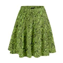 Sparkling Metal Art C High Waist Skirt