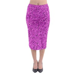 Sparkling Metal Art D Midi Pencil Skirt