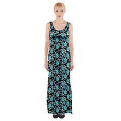 Roses pattern Maxi Thigh Split Dress