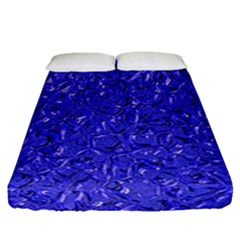 Sparkling Metal Art E Fitted Sheet (Queen Size)