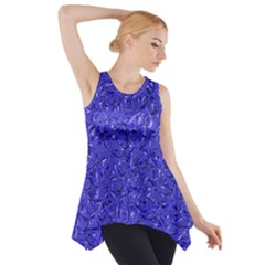 Sparkling Metal Art E Side Drop Tank Tunic