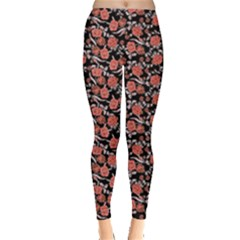 Roses pattern Leggings