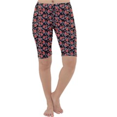 Roses pattern Cropped Leggings