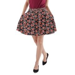 Roses pattern A-Line Pocket Skirt