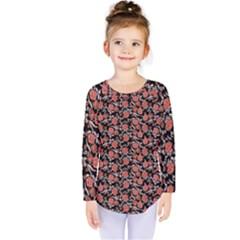 Roses pattern Kids  Long Sleeve Tee