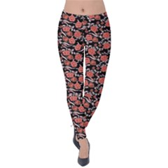 Roses pattern Velvet Leggings