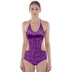 Sparkling Metal Art F Cut-Out One Piece Swimsuit