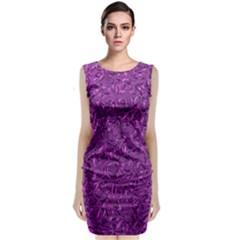 Sparkling Metal Art F Classic Sleeveless Midi Dress