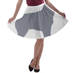 Australian Stumpy Tail Cattle Dog Silo Blue A-line Skater Skirt