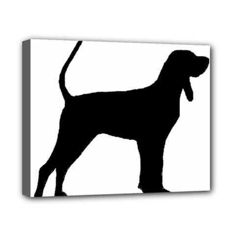 Black And Tan Coonhound Silo Black Canvas 10  x 8