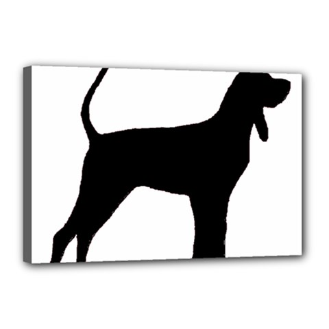 Black And Tan Coonhound Silo Black Canvas 18  x 12