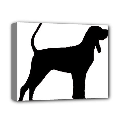 Black And Tan Coonhound Silo Black Deluxe Canvas 14  x 11