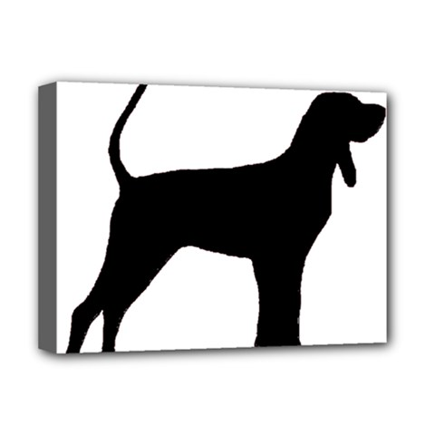 Black And Tan Coonhound Silo Black Deluxe Canvas 16  x 12