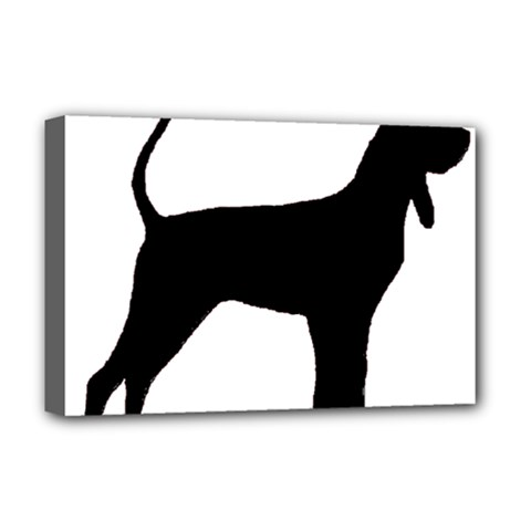 Black And Tan Coonhound Silo Black Deluxe Canvas 18  x 12