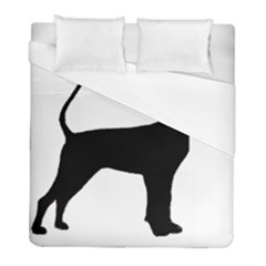 Black And Tan Coonhound Silo Black Duvet Cover (Full/ Double Size)