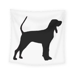 Black And Tan Coonhound Silo Black Square Tapestry (Small)