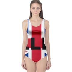 Bulldog England United Kingdom Name Flag One Piece Swimsuit