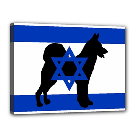 Cannan Dog Silhouette Flag Of Israel Canvas 16  x 12