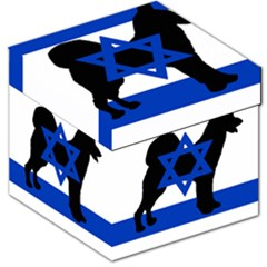 Cannan Dog Silhouette Flag Of Israel Storage Stool 12