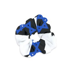 Cannan Dog Silhouette Flag Of Israel Velvet Scrunchie