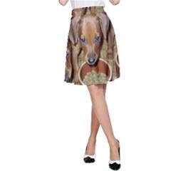 German Pinscher Puppies A-Line Skirt