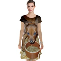 German Pinscher Puppies Cap Sleeve Nightdress