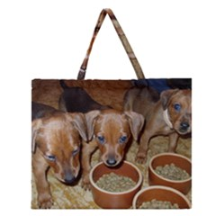 German Pinscher Puppies Zipper Large Tote Bag