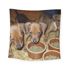 German Pinscher Puppies Square Tapestry (Small)