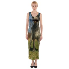 Irish Wolfhound full Fitted Maxi Dress