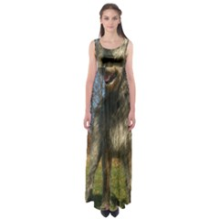Irish Wolfhound full Empire Waist Maxi Dress