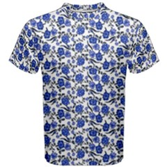 Roses pattern Men s Cotton Tee