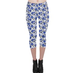 Roses pattern Capri Leggings