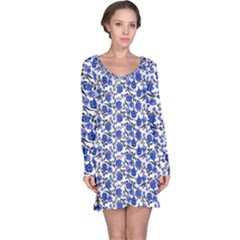 Roses pattern Long Sleeve Nightdress