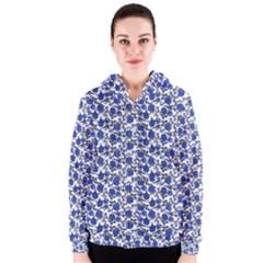 Roses pattern Women s Zipper Hoodie