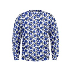 Roses pattern Kids  Sweatshirt