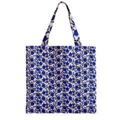 Roses pattern Zipper Grocery Tote Bag
