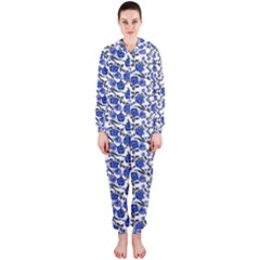 Roses pattern Hooded Jumpsuit (Ladies)