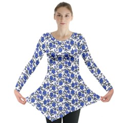 Roses pattern Long Sleeve Tunic