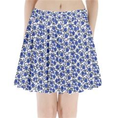 Roses pattern Pleated Mini Skirt