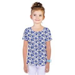 Roses pattern Kids  One Piece Tee