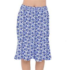 Roses pattern Mermaid Skirt