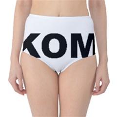 I Love My Komondor High-Waist Bikini Bottoms