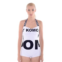 I Love My Komondor Boyleg Halter Swimsuit