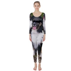 Mini Australian Shepherd Black Tri Love W Pic Long Sleeve Catsuit