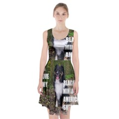 Mini Australian Shepherd Black Tri Love W Pic Racerback Midi Dress