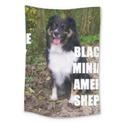 Mini Australian Shepherd Black Tri Love W Pic Large Tapestry