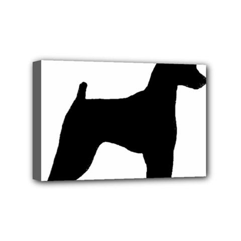 Min Pin Silo Black Mini Canvas 6  x 4