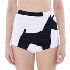 Min Pin Silo Black High-Waisted Bikini Bottoms